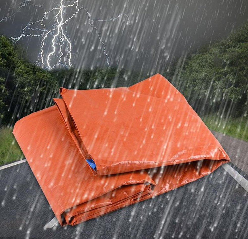Paño de lluvia azul naranja / protección solar tela a prueba de viento cubierta de la lona / lona del coche / tela de plástico recubierto de PVC / tela ...