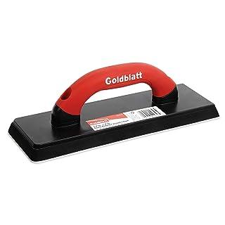 "Goldblatt Gum Rubber Grout Float with Soft Grip Handle, 4"" x 12"", Red"