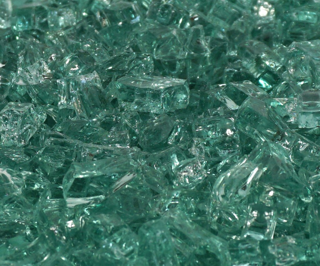 1/2'' Emerald Green / Evergreen Fireglass 10 Pound Bag