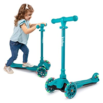KicksyWheels Scooters for Kids - 3 Wheel Toddler Scooter for Boys & Girls - Toddlers and Kids Toys for 1 Year Old and Up - Three Heights & Light Up Wheels : Sports & Outdoors