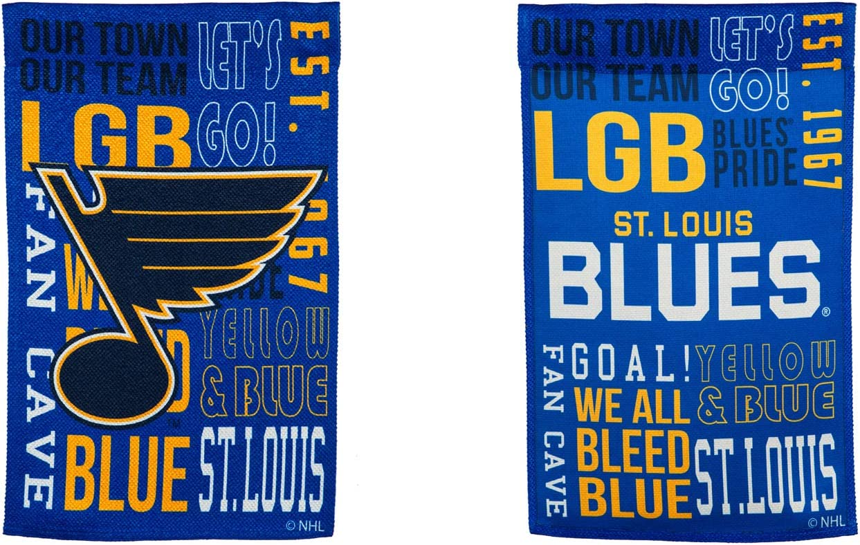 Team Sports America St Louis Blues Fan Rules Garden Flag - 13 x 18 Inches