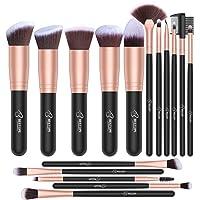 Bestope 16-Piece Makeup Brush Set (Rose Golden)