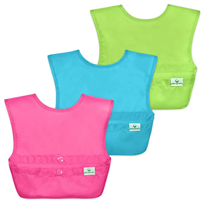 Top 9 Green Sprouts 3 Snap Food Catcher Bib