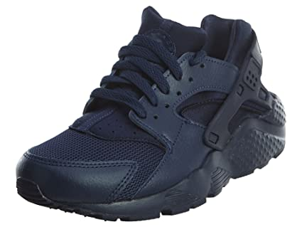 cb37ed51f7724 Image Unavailable. Image not available for. Color  Nike Kids Huarache Run  Black Grey Blue Running Shoe ...