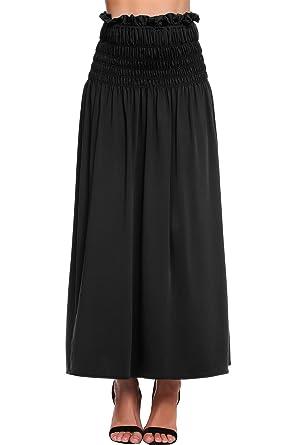830e090439 Zeagoo Womens Lightweight Floor Length Maxi Pleated Skirt at Amazon ...