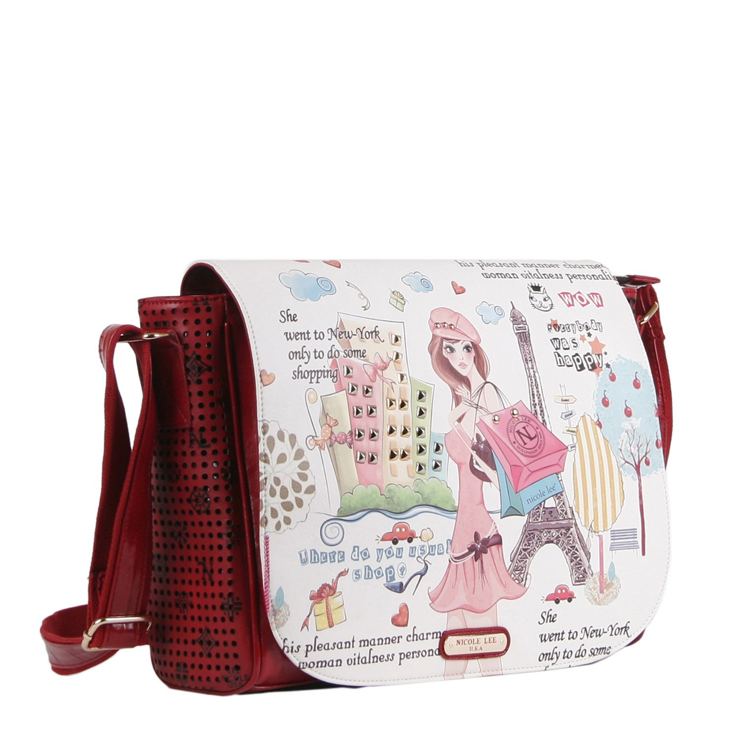 Amazon.com | Nicole Lee Messenger Bag, Shopping Girl, One Size | Messenger Bags