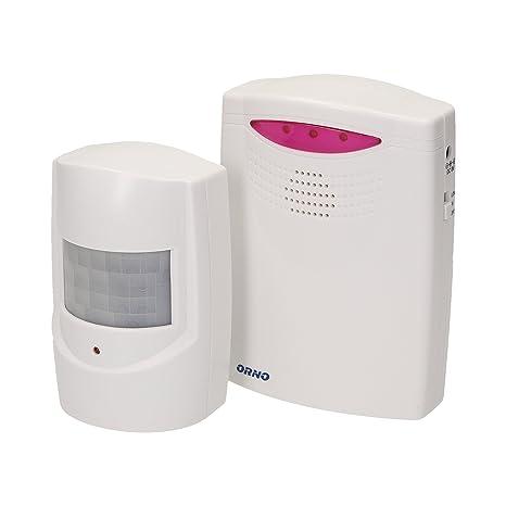Orno Detector de Movimiento con función de Alarma, Inalámbrico, IP44 a, 1 Pieza