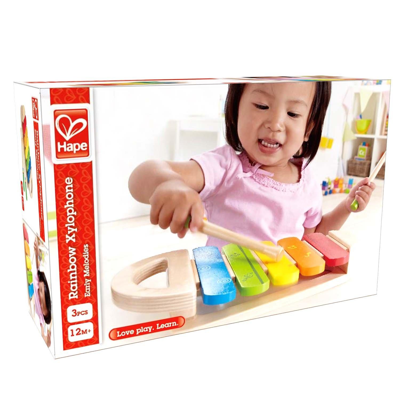Amazon Hape Rainbow Xylophone Toddler Wooden Musical