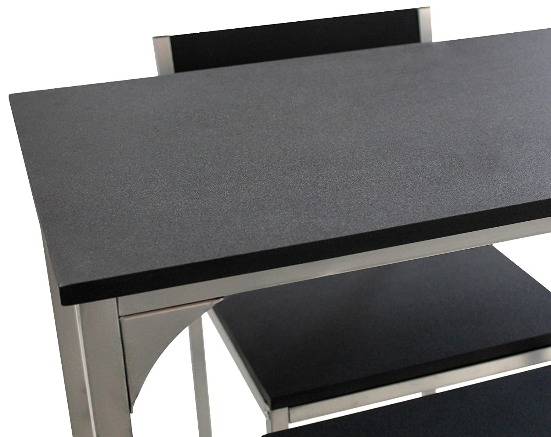 Yelloo set tavolo e 2 sgabelli bar mod. udine arredo salotto