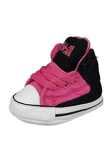 1aad900e0e397 Converse Baby Chucks 854375C Schwarz Pink mit Klettverschluss Mod Pink  Black White