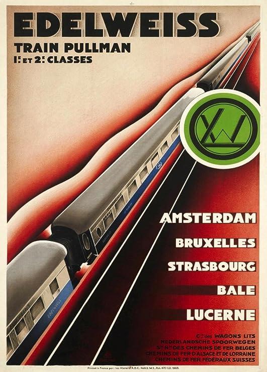 Vintage de viaje Suiza en el EDELWEISS PULLMAN tren de ...