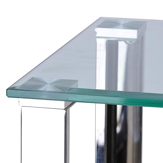 Amazon.com: Cortesi Home Melissa doble estante mesa de ...