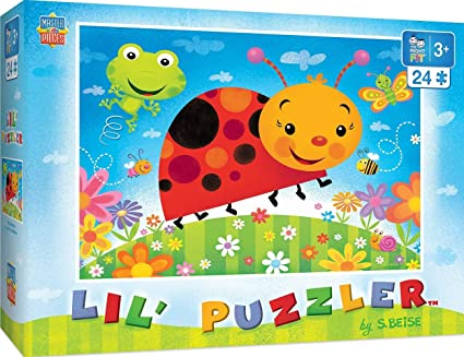 MasterPieces PuzzleCompany Lil Puzzler-Bug Buddies 24 Piece Right Fit Puzzle, Multicolored, 19X14