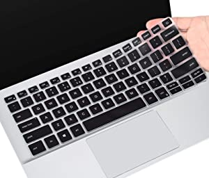 Keyboard Cover for Dell Insprion 14 5000 2-in-1 5400 5405 5406 5490 5493 5498, Dell Inspiron 14 7000 7400 7405 7409 7490, Inspiron 13 5300 5301 5390 5391 7300 7306 7390 7391| 2020 Inspiron 13 14,Black