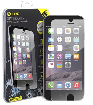 iphone 6 6s aduro shatterguardz tempered glass screen protector anti scratch anti amazoncom tempered glass