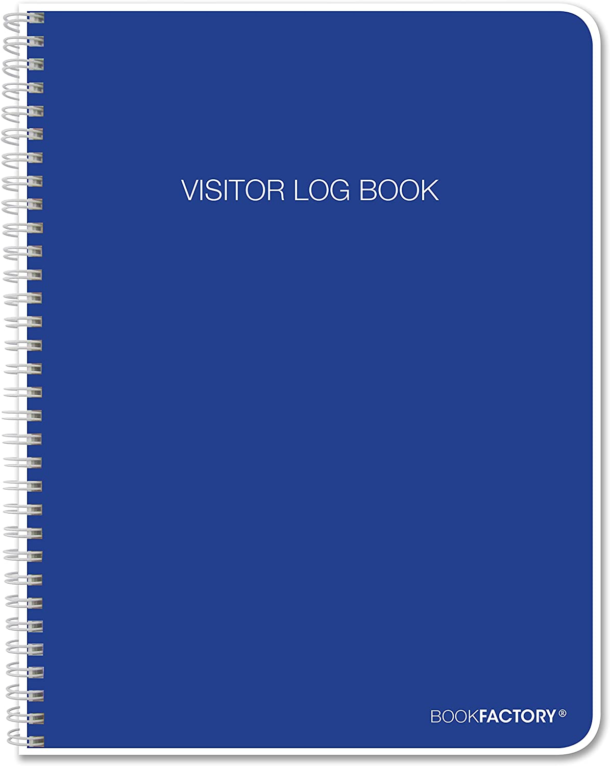 BookFactory Visitor Log Book/Visitor Register/Visitor Sign-in Book - 120 Pages, 8 1/2