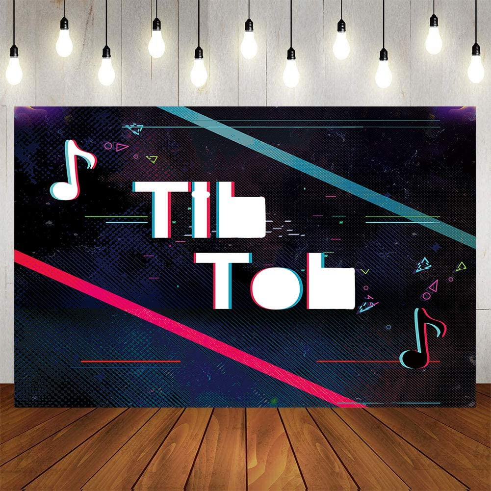 Gemten Music Party Decorations 7x5FT Photo Backdrop Artistic Music Themed Birthday Party Supplies Bedroom Wall Tapestry Blanket for Girl Boy Kids Room Dormitory Poster Home Decor 59X90 Inch