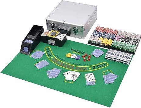 vidaXL Juego Combinado de Póker y Blackjack con 600 Fichas ...