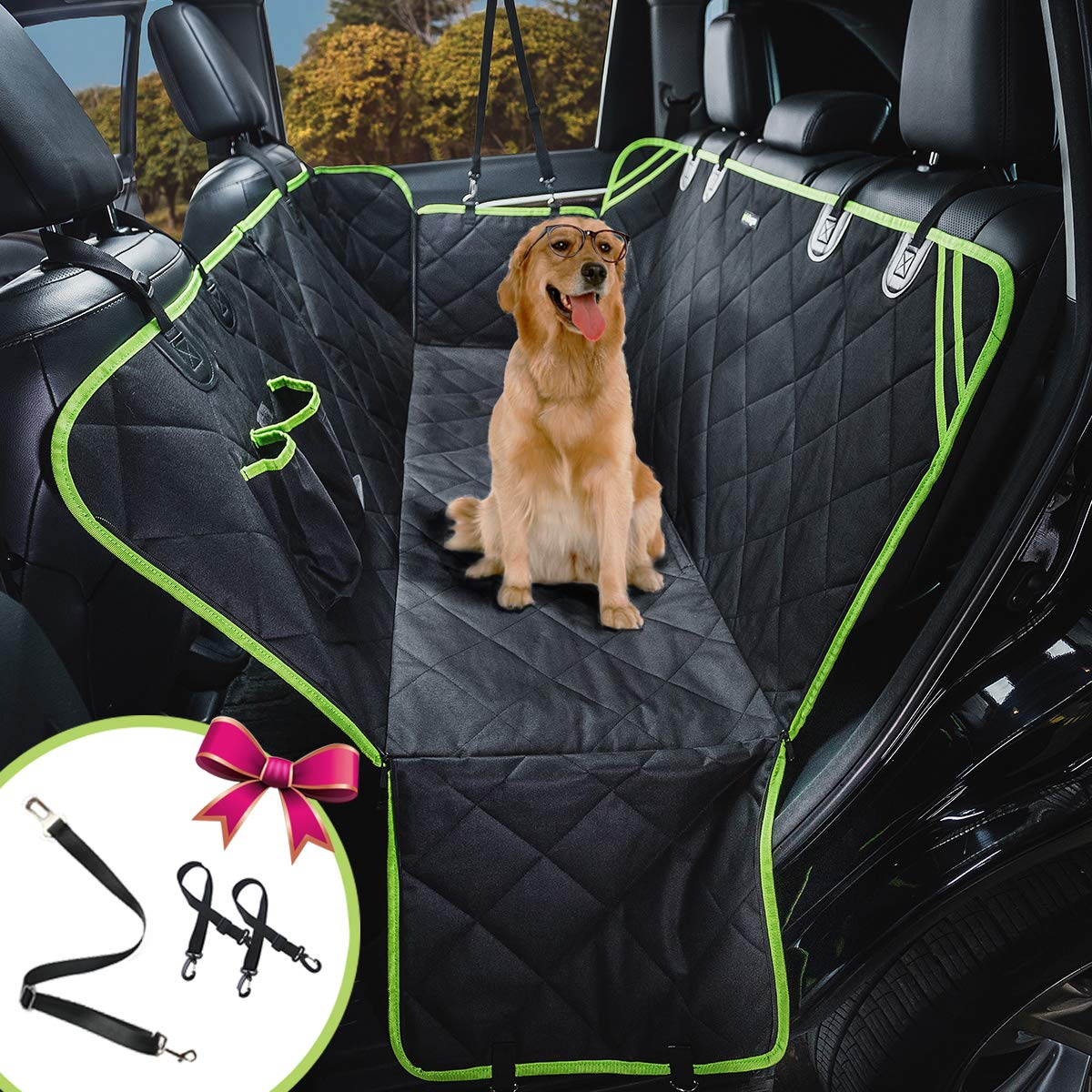 petalage Dog Seat Cover for Back Seat Waterproof Scratch Proof Nonslip Car Seat for Dogs Back Seat Cover for Cars Trucks SUV HYSC1