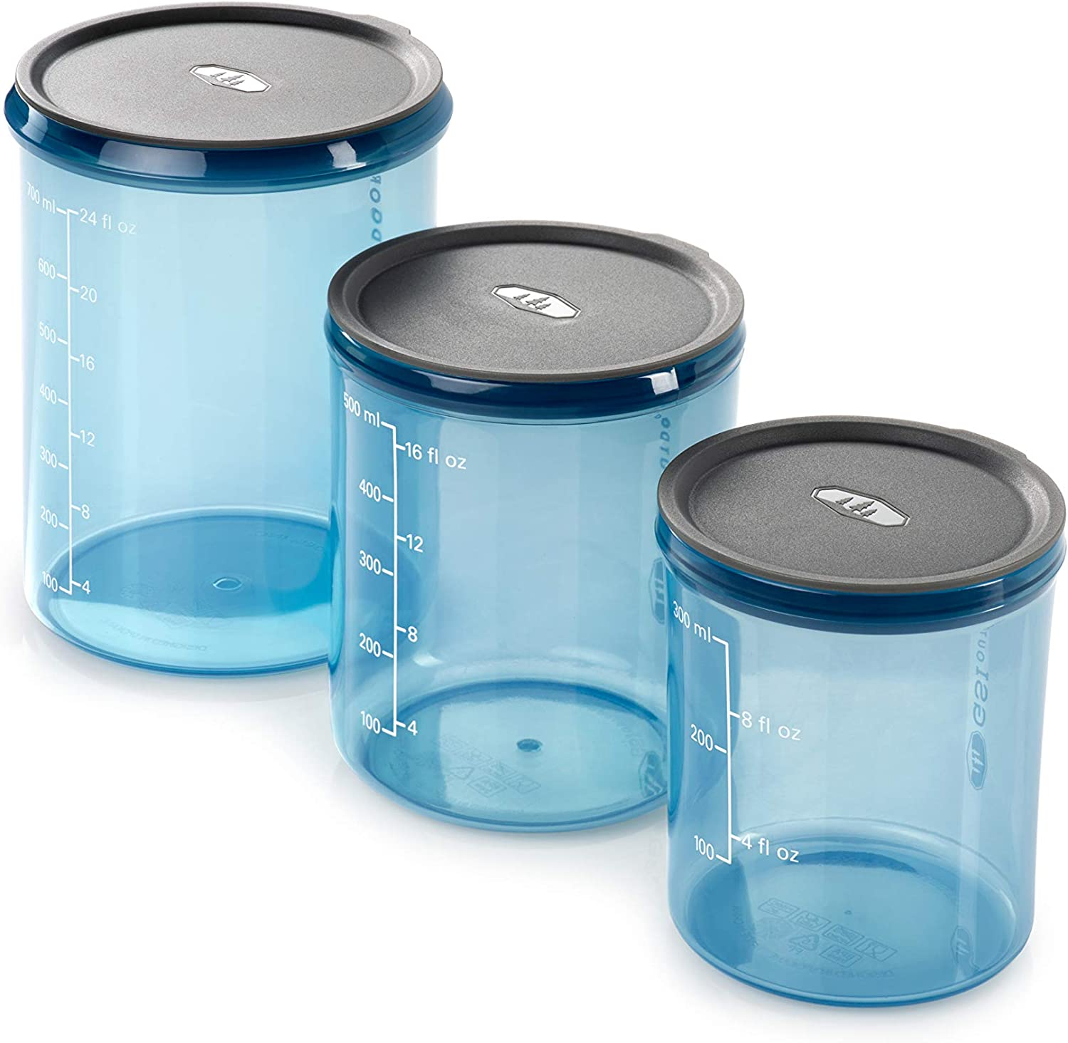 GSI Outdoors Infinity Storage Set - 3 Piece Food Storage for Camping and Backpacking