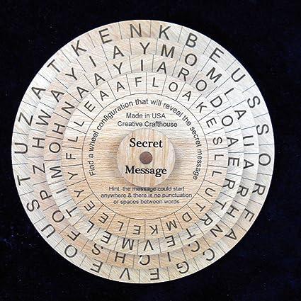 Amazon com: Word Wheel Secret Message Cryptograph Puzzle