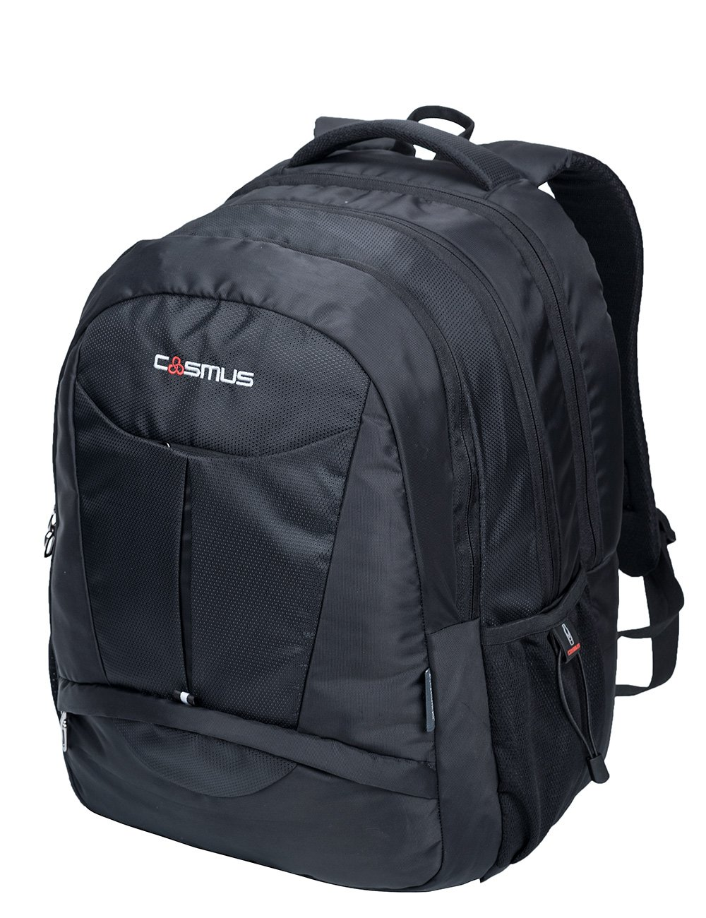 1267135d1a Cosmus Eden DX Black Polyester Waterproof Large Laptop Backpack  Amazon.in   Bags