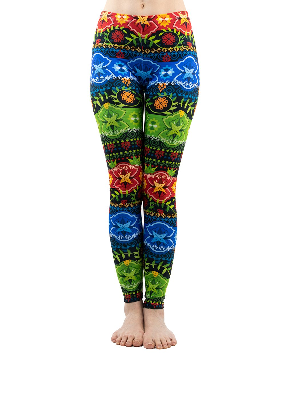 PINK PLOT Women's Yoga Gym Popular Printed Buttery Soft Leggings Fashion Thin Pants 20+Colors (Tropical Aztec, One Size-Fit XS-L)
