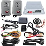 EASYGUARD rolling code PKE car alarm system with passive keyless entry remote start push button start stop touch password entry shock sensor warning auto locking unlocking car doors ec002-t-ns