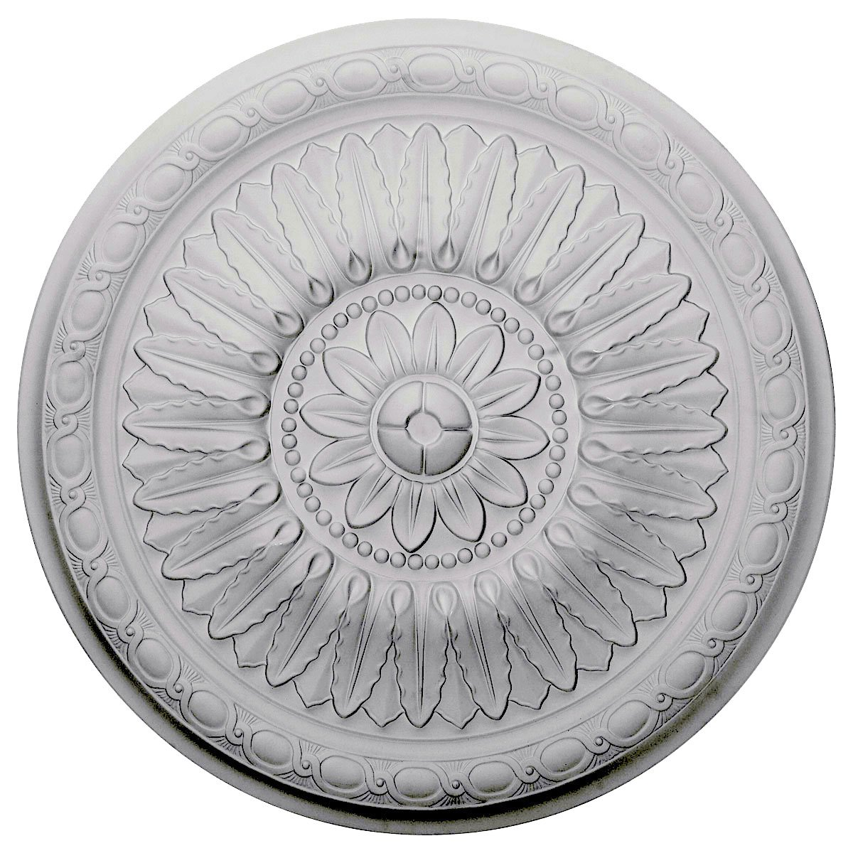 Ekena Millwork CM24TE 24-Inch OD x 1 5/8-Inch P Temple Ceiling Medallion