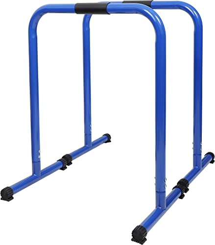 HeroFit Heavy Duty Dip Station, 350 LB Max Workout Bar Machine, Superior High-Performance Equalizer Bars for Triceps Dips, Parallel Press, Pull Exercise and Home Fitness