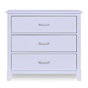 Dream On Me Universal 3 Drawers Chest | Kids Bedroom Dresser | Three Drawers Dresser Mid Century Modern, Lavender Ice (600-LI)