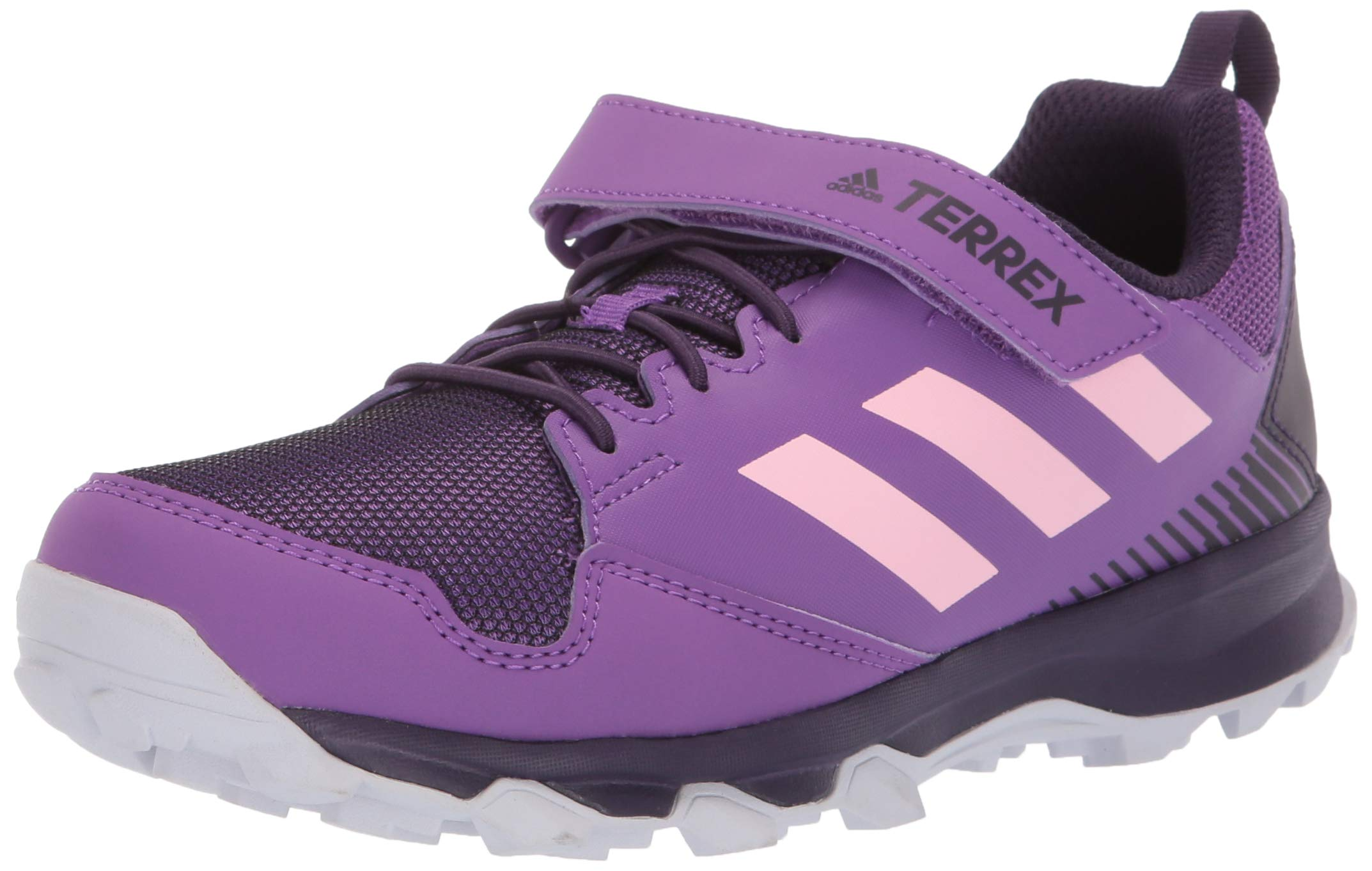 adidas outdoor Terrex Tracerocker CF Kids Trail Running Shoe, Active True Pink/Legend Purple, 2 Child US Big
