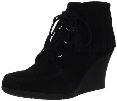 428c19b15b14b Amazon.com | Minnetonka Women's Lace Up Fringe Ankle Boot | Ankle ...