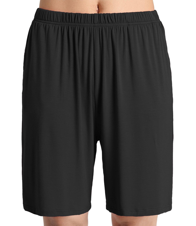 Latuza Women's Soft Sleep Pajama Shorts XL Black A