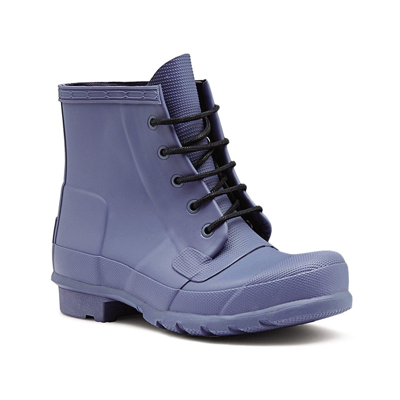 Womens Hunter Original Lace up Wellingtons Waterproof Rain Ankle Boots B01DKRI4P2 10 B(M) US Sky Blue