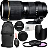 Tamron 70-200mm f/2.8 Di LD (IF) Macro AF Lens for Nikon with 77mm 3 Piece Filter Kit (UV+FLD+CPL), Dust Blower, Lens Backpack & Microfiber Cleaning Cloth