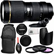Tamron 70-200mm f/2.8 Di LD (IF) Macro AF Lens for Nikon with 77mm 3 Piece Filter Kit (UV+FLD+CPL), More - International Version (No Warranty)