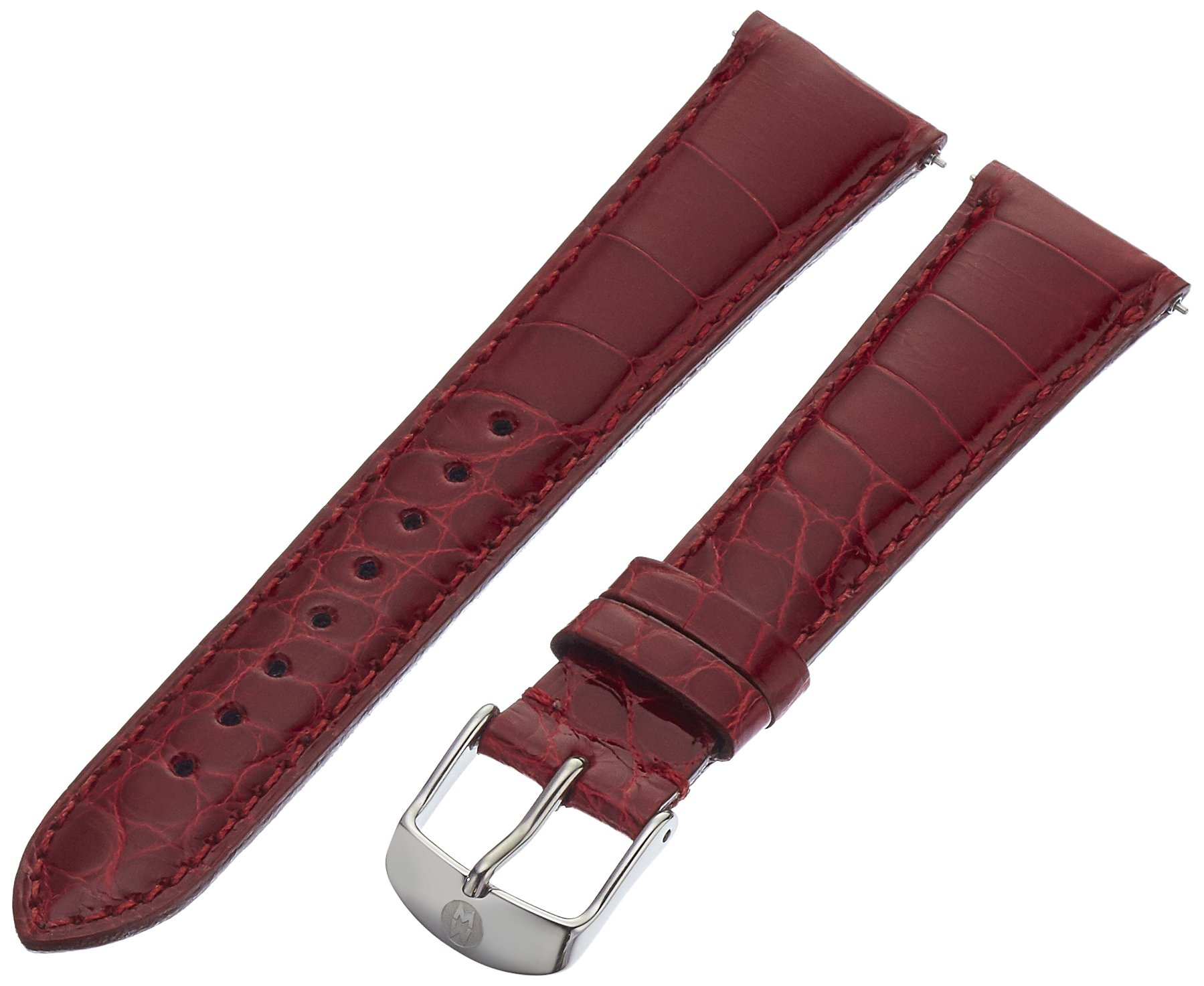 MICHELE MS20AB010611 20mm Leather Alligator Red Watch Strap