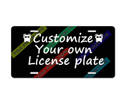 Personalized Front License Plates >> Amazon Com License Plate Personalized Add Pictures Text Logo Or