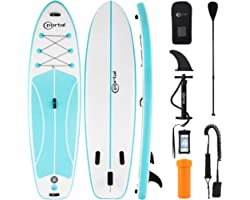 PORTAL Stand Up Paddle Board, 10'x32 x6 Inflatable Paddle Boards with SUP Accessories Including Carry Bag, Hand Pump, Paddle,