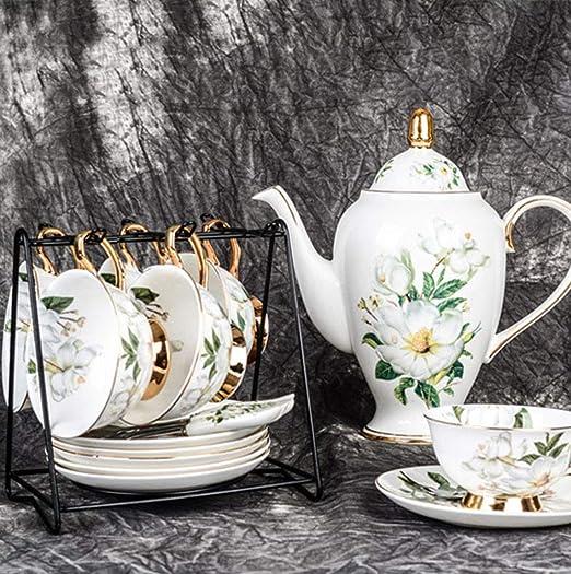 Juegos de té de 10 piezas de porcelana, calcomanías de camelia ...