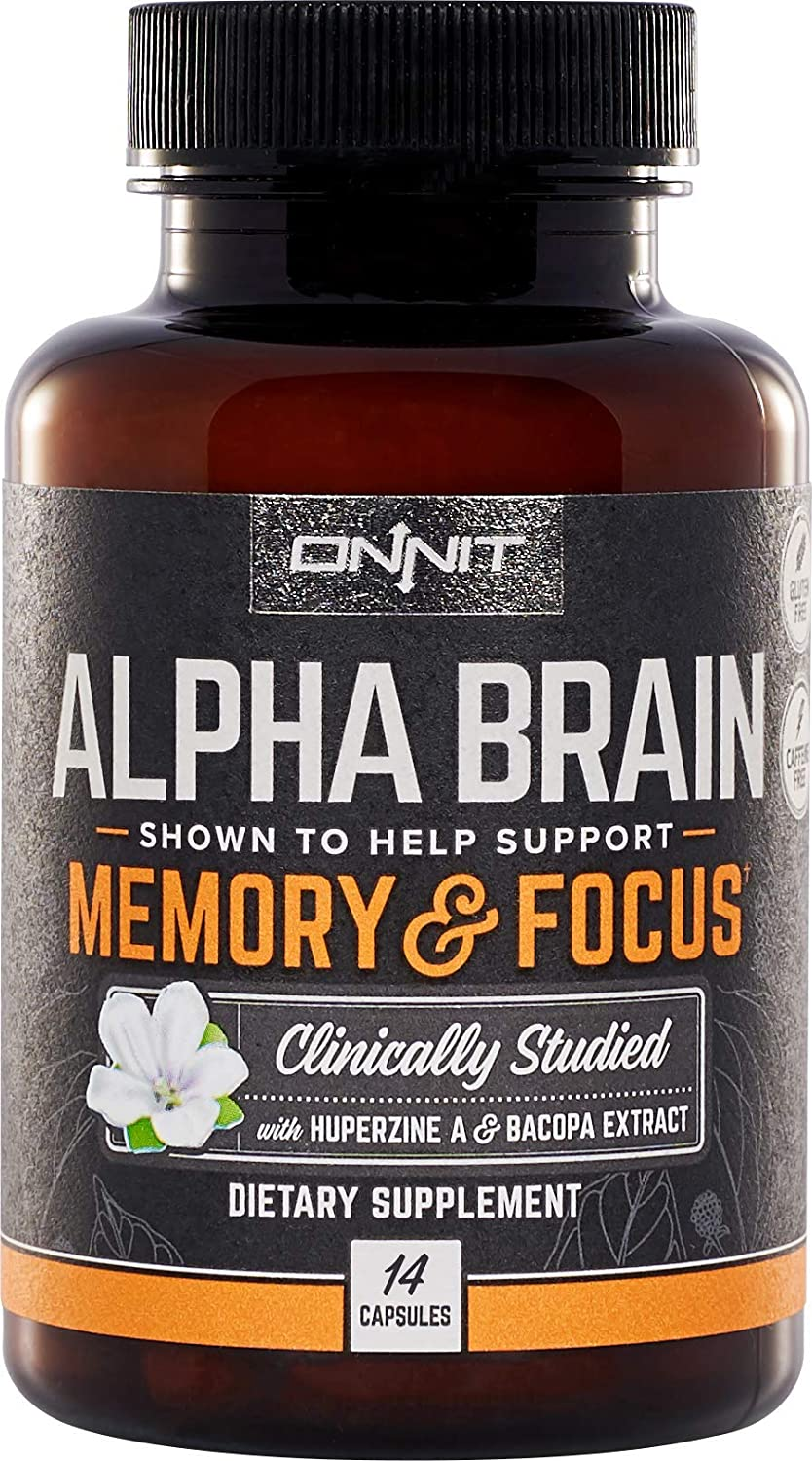 2bc1f1ea Amazon.com: Onnit Alpha Brain (14ct): Nootropic Brain Booster Supplement  for Memory, Focus, and Mental Clarity | with Bacopa, AC11, Huperzine A,  L-Tyrosine, ...