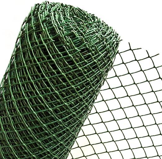 1 m² Malla en 1 m ancho x 1 m plástico Valla Valla de jardín Valla de plástico malla de 50 mm verde oscuro (Metro) ro5/100HD: Amazon.es: Jardín