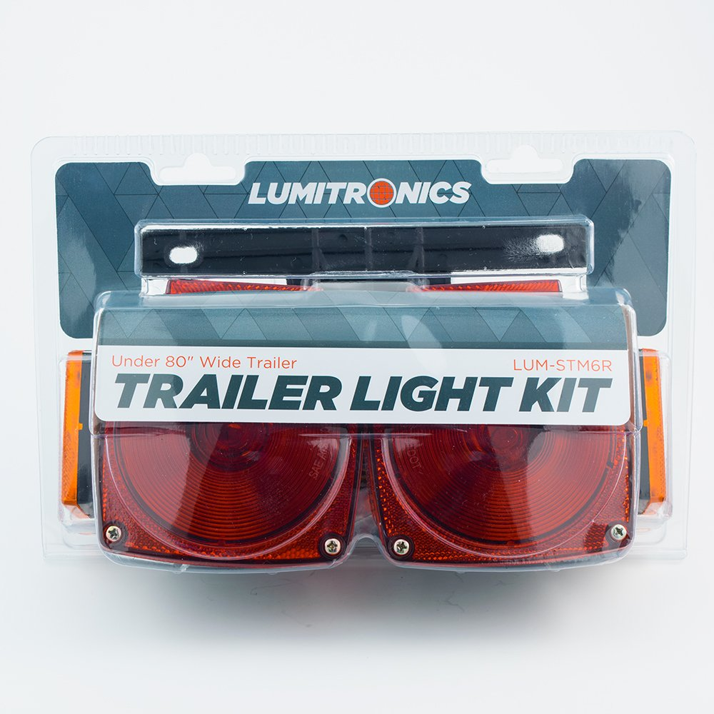 All Needed Parts Included Lumitronics Under 80 Universal Mount Combination Trailer Light Kit Complete For Easy Installation LUM-STM6R