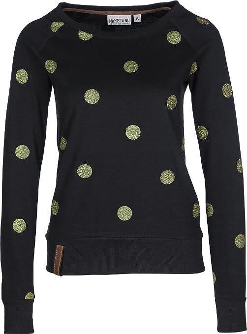 Naketano Damen Pullover Sweater Glitzikrokette black