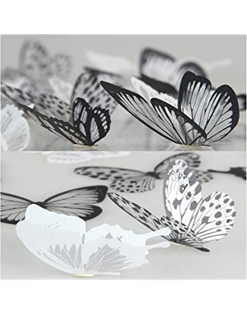 38b543c32 36 Pieces 3D Butterfly Stickers Vivid Design DIY House Wall Decoration  Windows Decor Baby Nursery Art