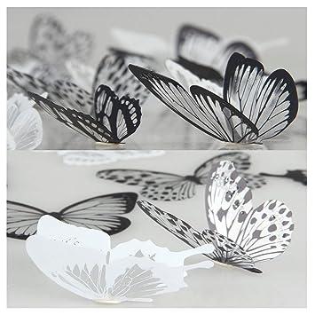 Lisdripe 3D-Schmetterlingsaufkleber zur Wanddekoration im ...