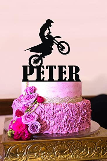 Strange Amazon Com Motorcycle Cake Topper Dirt Bike Cake Topper Motocross Birthday Cards Printable Trancafe Filternl