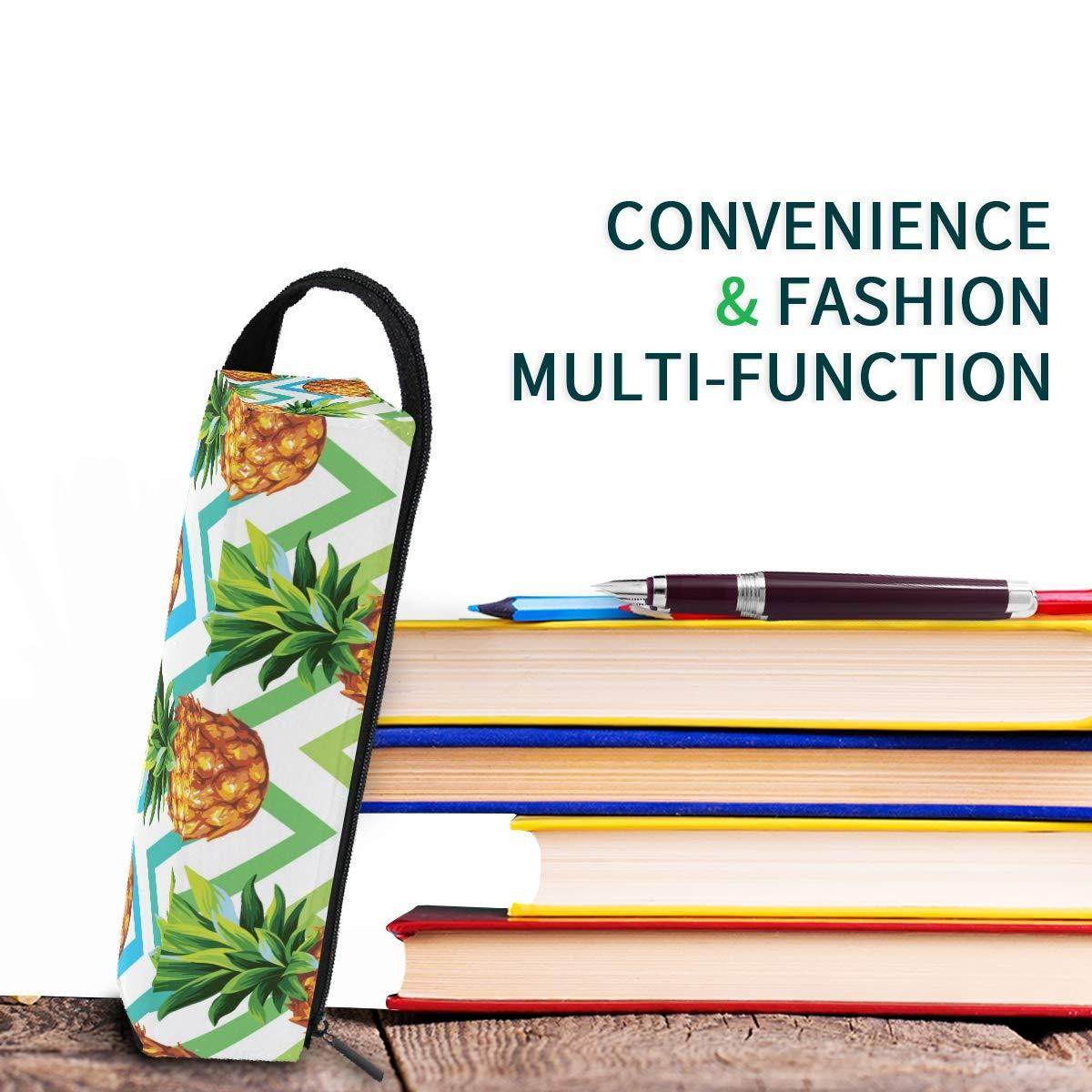 My Little Nest Eyeglass Sunglasses Holder Pouch Bag Pineapple Geometrical Multi Function Zipper Pen Case Pencil Bag Organizer