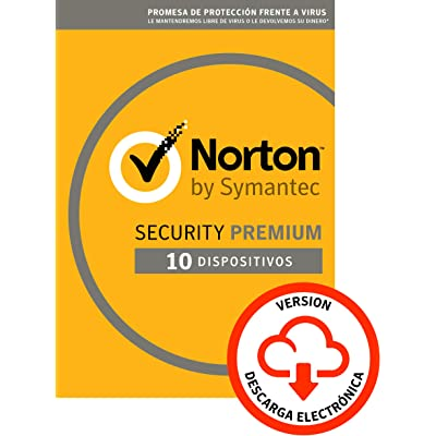 Norton Security | Premium | 10 Dispositivo | 1 Año | PC/Mac | Código de activación enviado por email